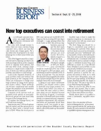 How top executives can coast into retirement