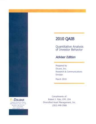 2010 QAIB Quantitative Analysis of Investor Behavior